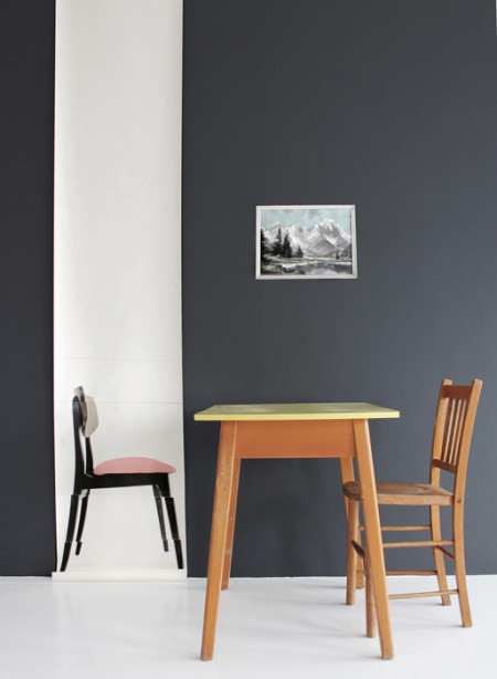 Sélection de papiers-peints en trompe-l'œil || Papier-peint Pink chair en trompe-l'oeil par Deborah Bowness