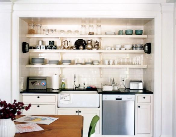 Une kitchenette ouverte