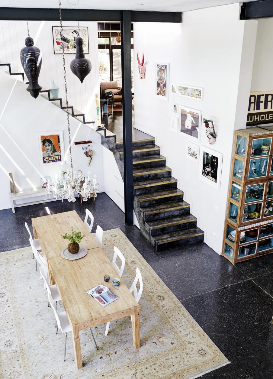 La maison de Casey Embden et Dan Berkowitz à Cap Town en Afrique du sud || Style industriel et influences indiennes