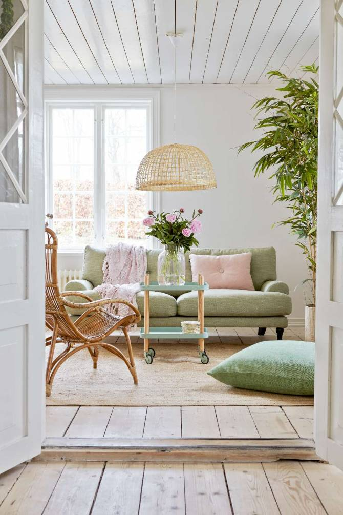 Salon scandinave campagne en mode printemps