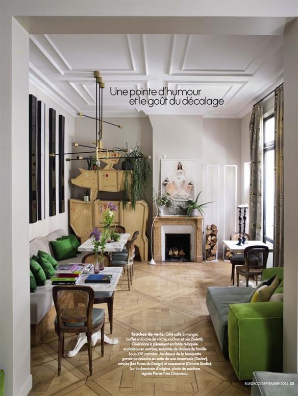 un appartement parisien bucolique. Black Bedroom Furniture Sets. Home Design Ideas