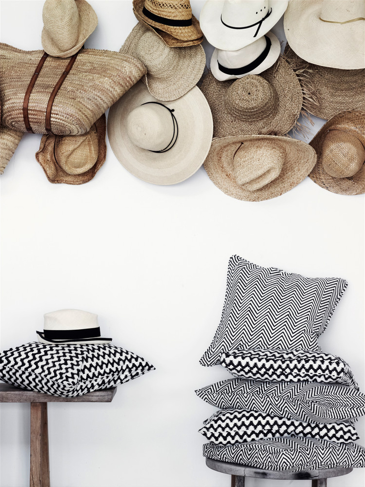 Le chapeau de paille accessoire de mode devenu déco // Day Home catalogue