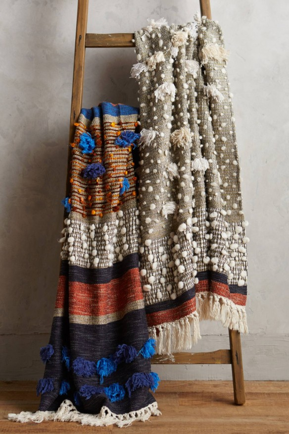 Collaged Majida Throws - All Roads Design pour Anthropologie