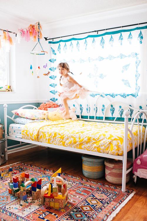 Andrea Duclos home - Chambre d'enfant bohème