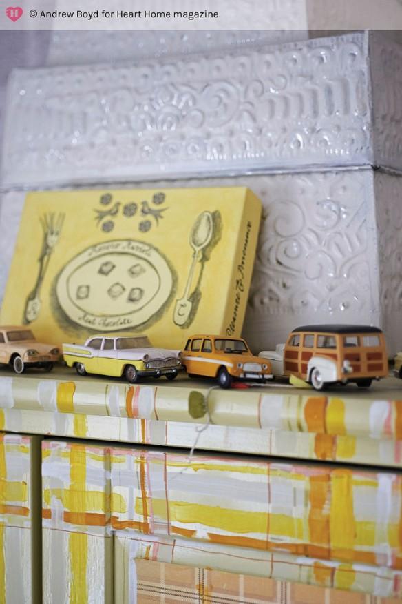 via Heart home mag - Chambre d'enfant bohème récup' et customisation