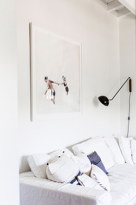 La nouvelle maisonVictoria Smith -sfgirlbybay.com- à Los Angeles || #canapé #blanc