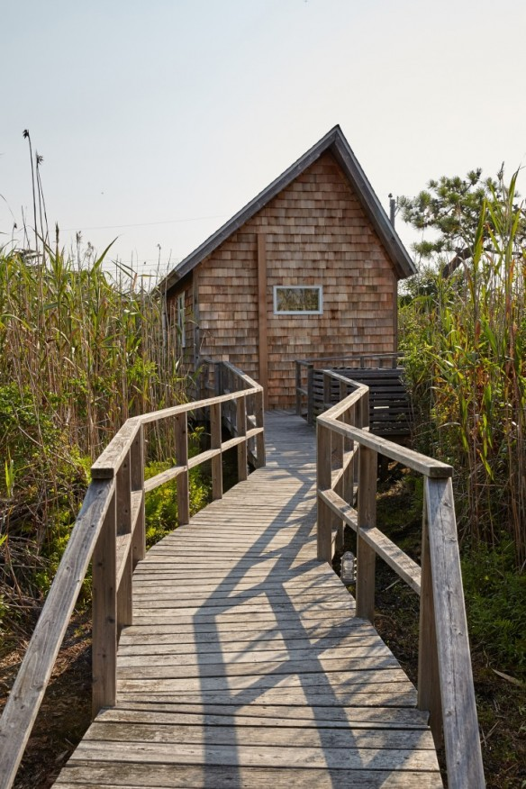 La cabane d'Ann Stephenson et Lori Scacco à Fire Island