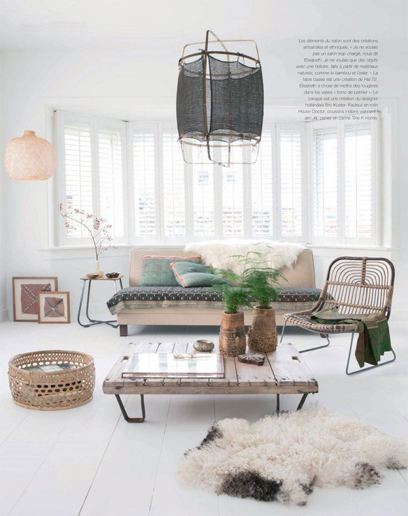 une maison d 39 esprit scandinave ethnique sur la mer du nord. Black Bedroom Furniture Sets. Home Design Ideas