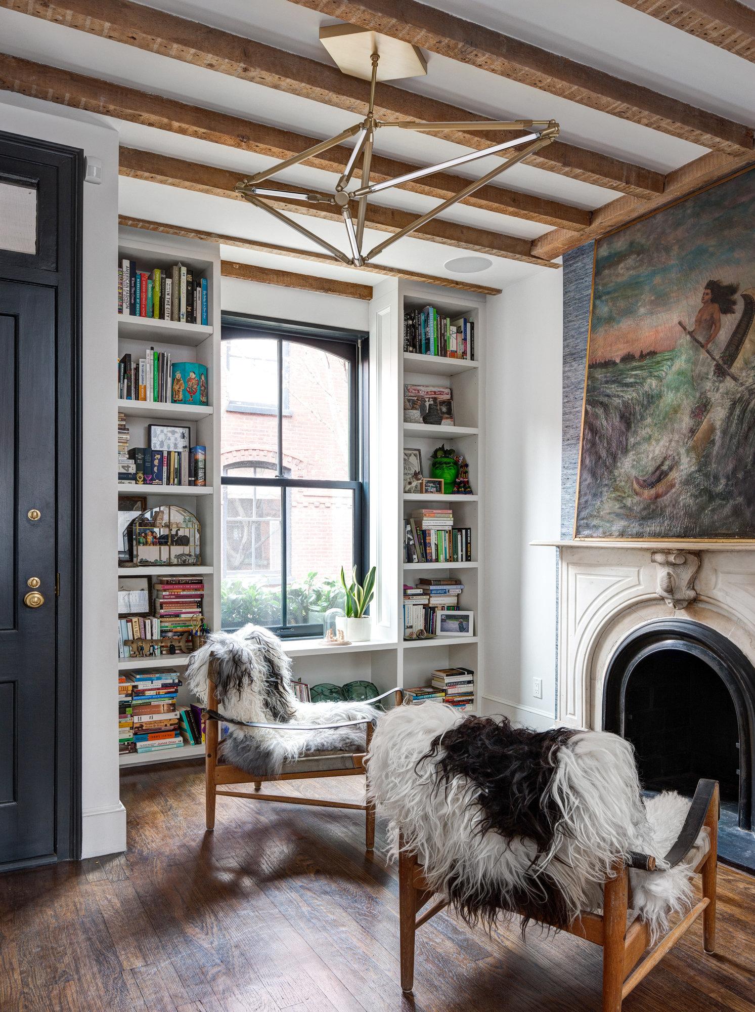 Rénovation d'une maison à Brooklyn par Elysabeth Roberts || #peau de #mouton