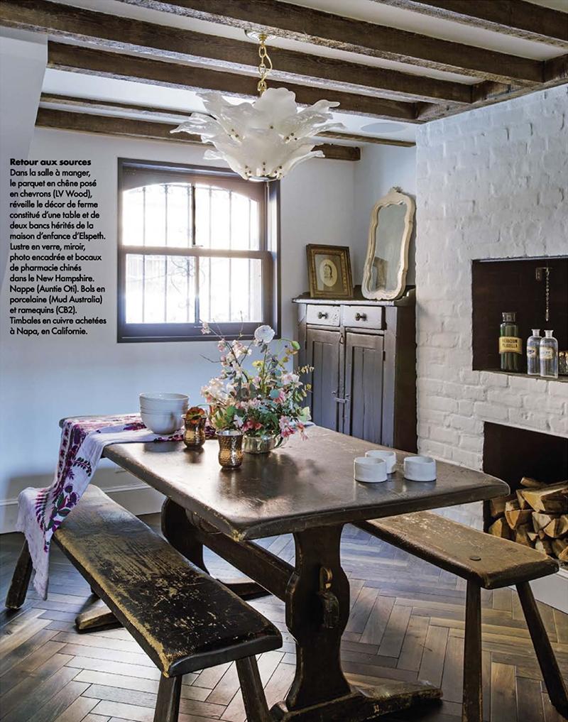 Rénovation d'une maison à Brooklyn par Elysabeth Roberts - Elle Décoration, Sept. 2015 || Style néo-rustique