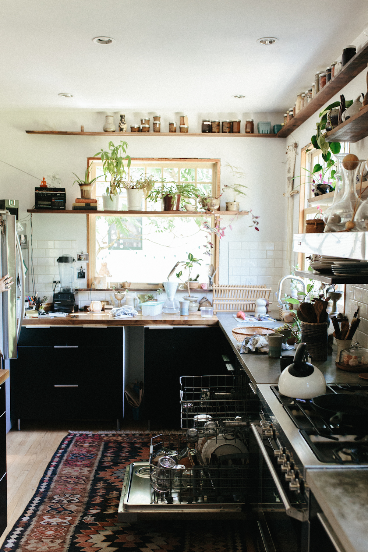 La maison bohème hippie d'Emily Katz à Portland