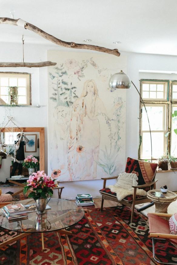 Chez emily katz l 39 int rieur d 39 une hippie moderne for La maison home accessories