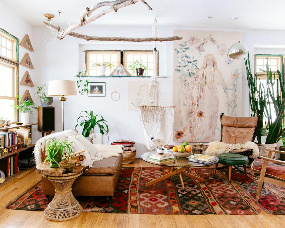 Chez Emily Katz : l\'intérieur d\'une hippie moderne - Turbulences Déco
