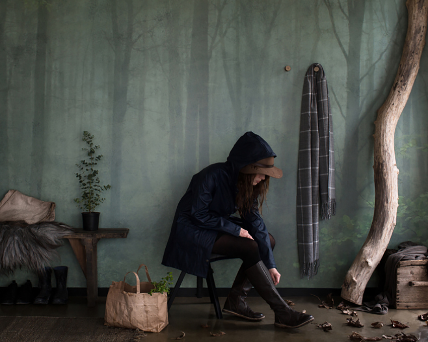 Inspiration et décoration d'automne | Papier-peint Sandberg Skog the story behindd