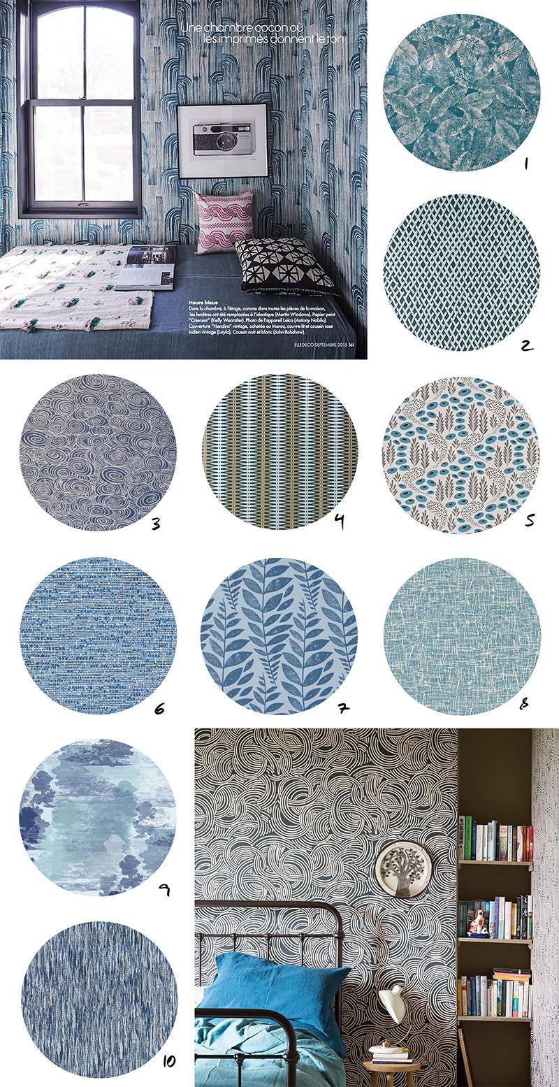 Selection-de-papiers-peints-bleus