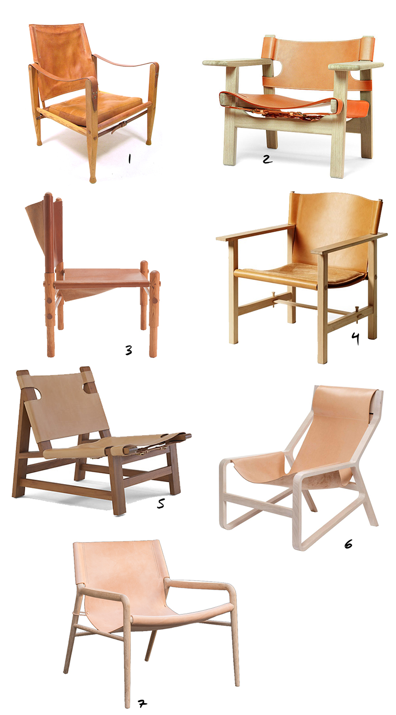 envie d 39 un fauteuil safari ou sling chair en cuir. Black Bedroom Furniture Sets. Home Design Ideas