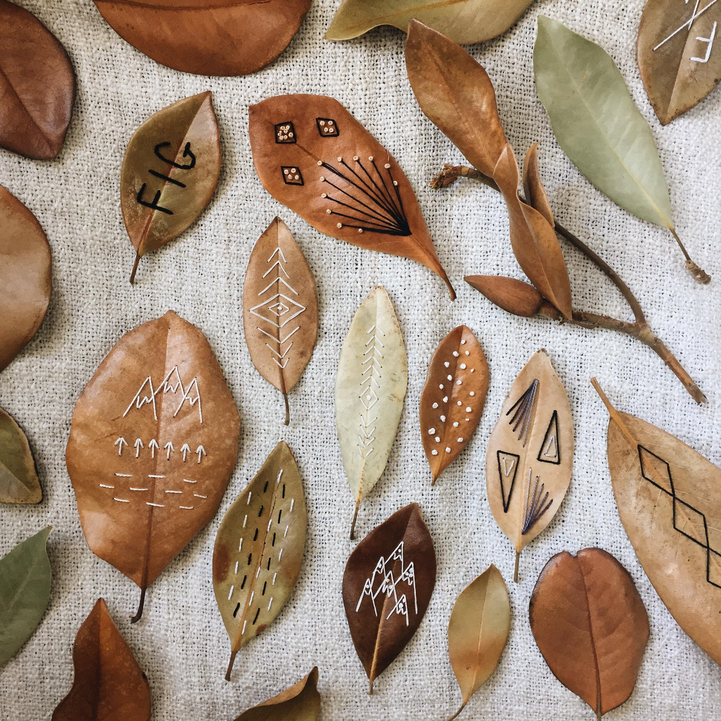 Inspiration et décoration d'automne | Les feuilles brodées de TVL Birdie
