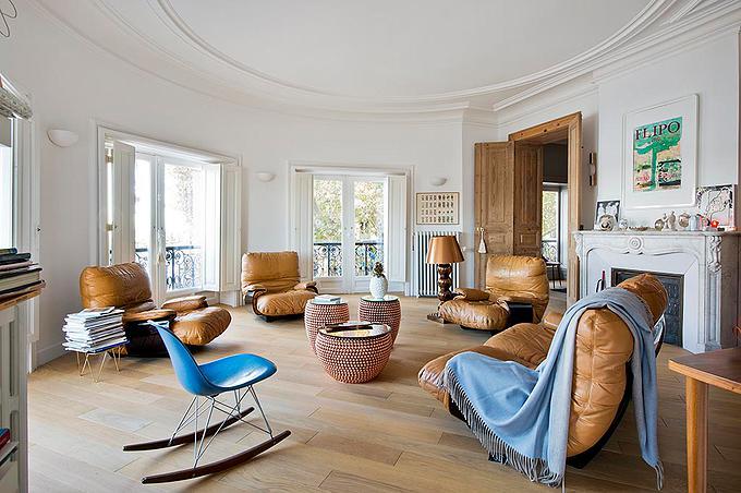 un appartement s te l 39 esprit seventies par emilie chicheportiche. Black Bedroom Furniture Sets. Home Design Ideas