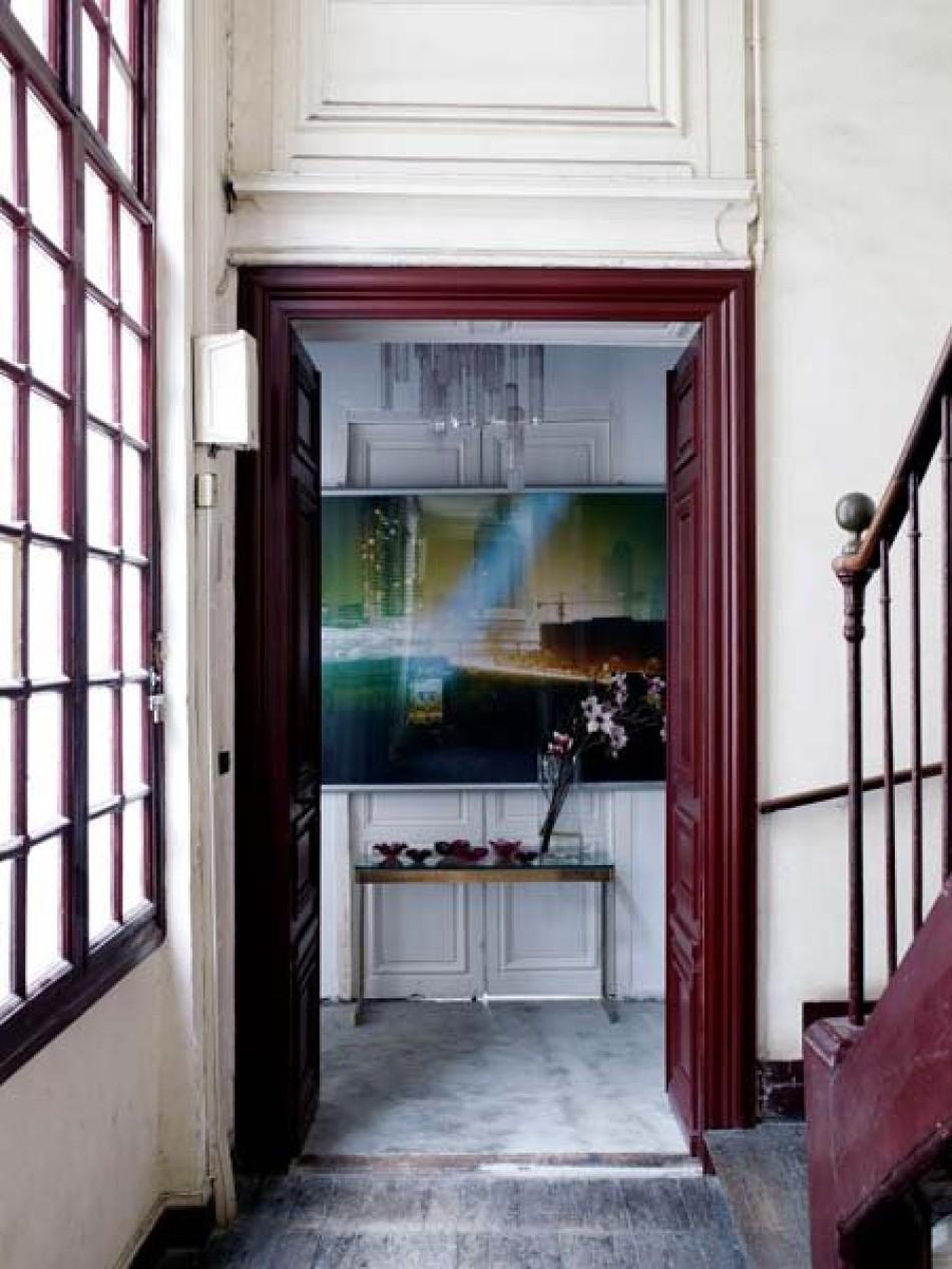 Joséphine Gintzburger - Saint Eustache - Entrée d'un appartement d'exception, le ton est donné
