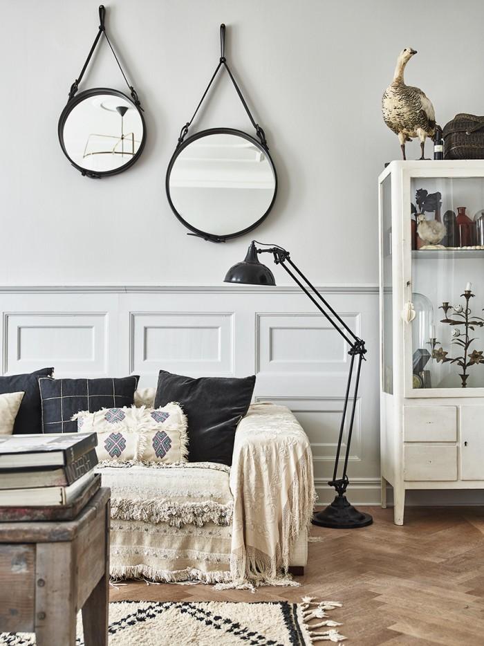 L'appartement bohème ethnique à Malmö de Karolina Vertus et Daniel Magnusson