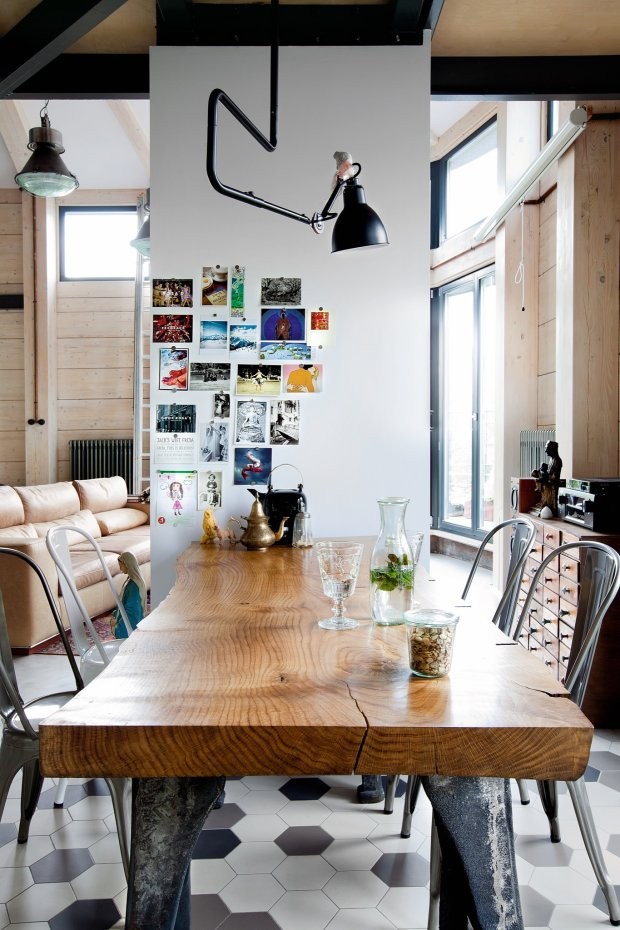 Appartement style loft industriel for Deco loft industriel