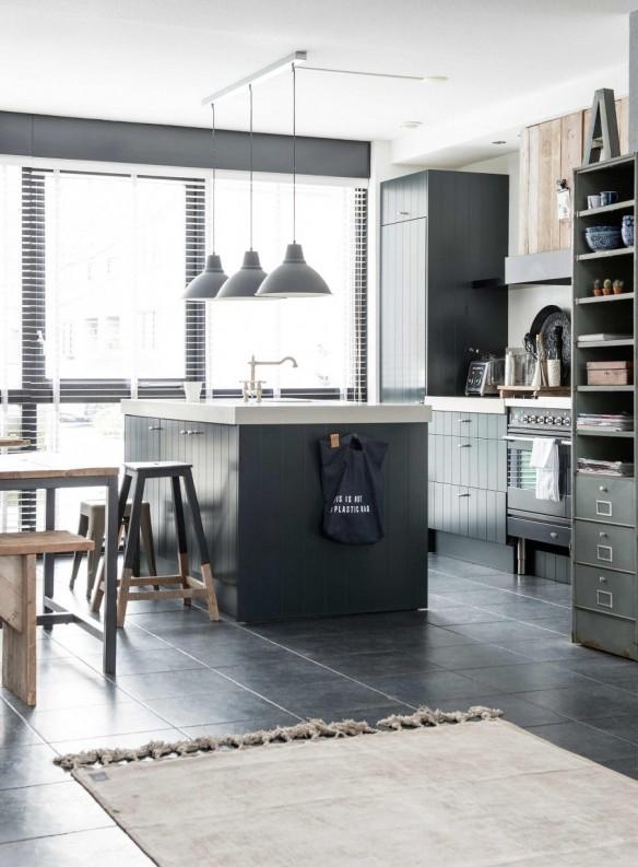 Maison de ville au style industriel et bohème aux Pays-Bas