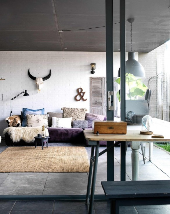 Adopter le style industriel for Deco salon style industriel