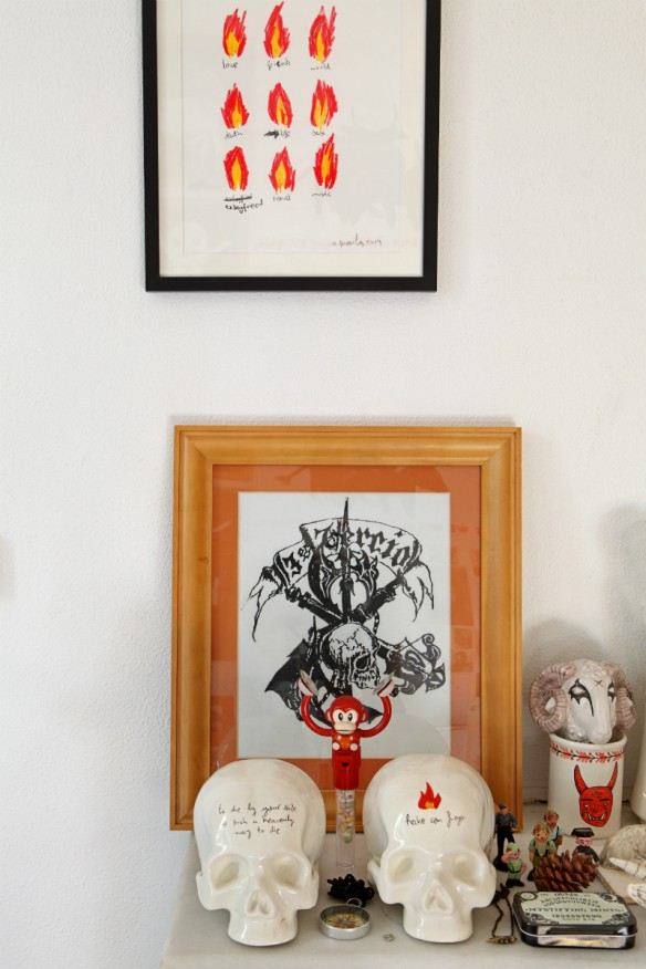 L'atelier du graphiste / artiste Aitor Saraiba