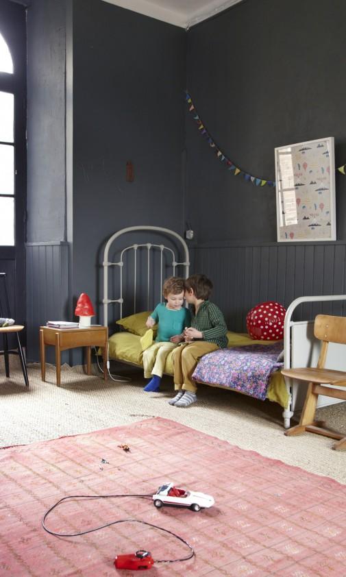 Une chambre d'enfant noire par Aurélie Lécuyer