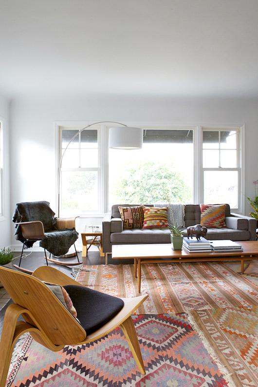 Natalie Myers de Veneer Designs - Silverlake project || Tapis en kilim