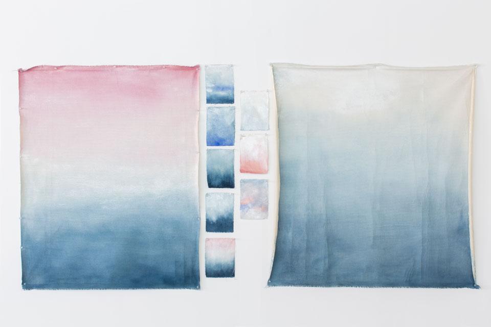 Pantone 2016 Rose Quartz et Bleu Sérénité || Calico wallpaper