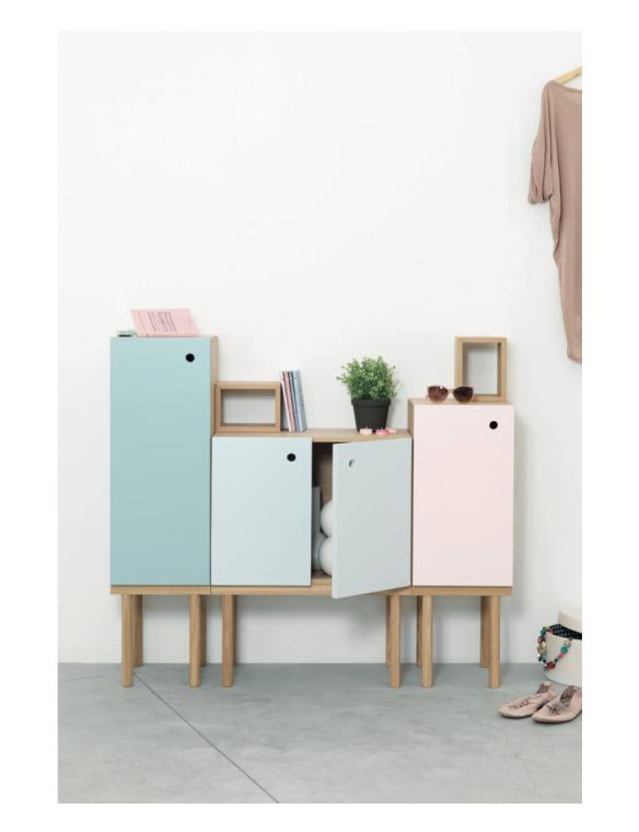 Pantone 2016 Rose Quartz et Bleu Sérénité || Collage cabinet - Design Ex.t