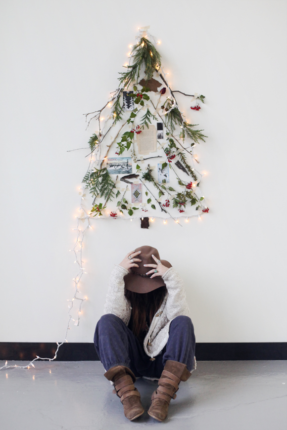 Décoration de Noël inspirée de la nature || DIY un arbre de Noël alternatif