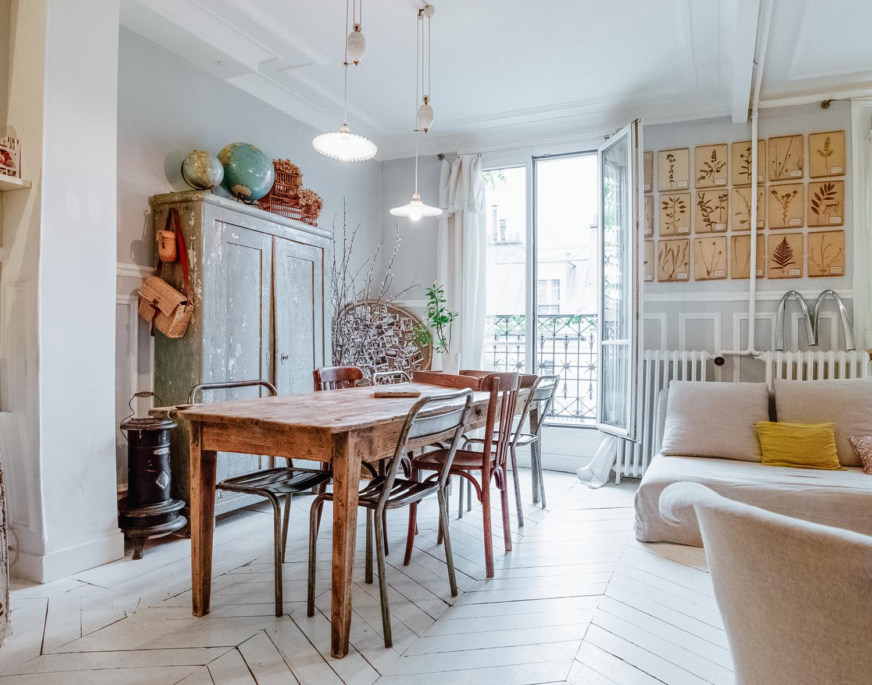 Esprit campagne à la ville - Le Petit Florilège || Décoration d'un appartement à Paris XI