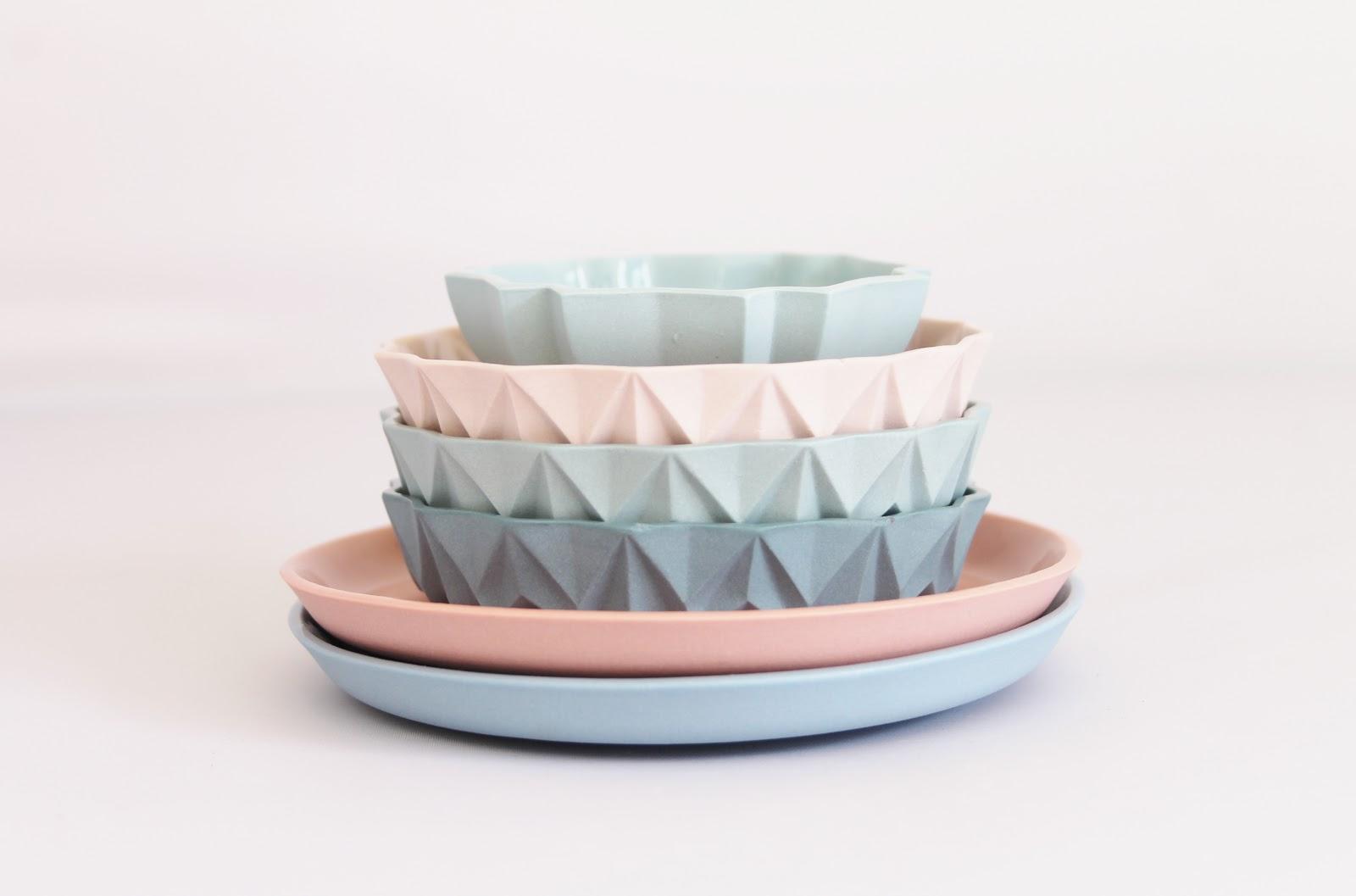 Pantone 2016 Rose Quartz et Bleu Sérénité || Céramique design Lenneke Wispelwey