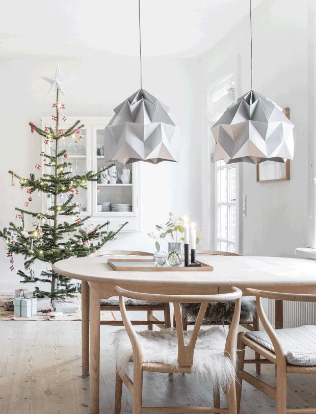 Déco de Noël scandinave minimaliste - L'intérieur de Lisbeth Assenholt