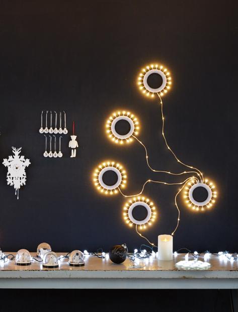 Lumières de Noël : Photo d'ambiance de Noël - Merci Paris