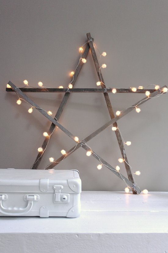 Lumières de Noël || DIY christmas star for your home via Voges Paris
