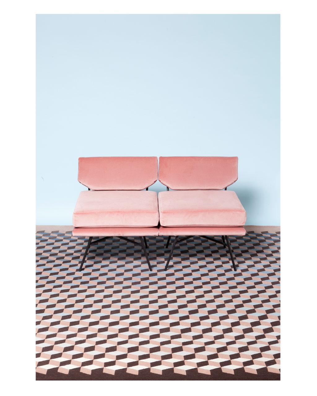 Pantone 2016 Rose Quartz et Bleu Sérénité || Tapis design Artnau