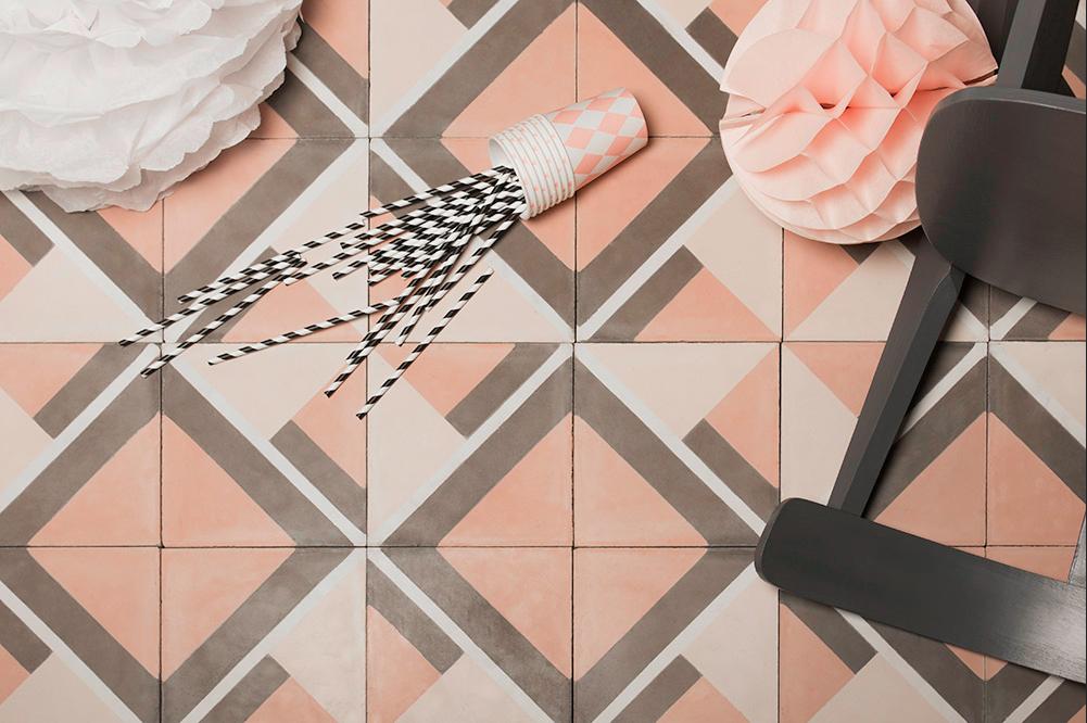 Pantone 2016 Rose Quartz et Bleu Sérénité || Carreaux de ciment - Baya Justine
