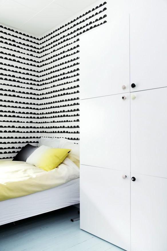 une chambre d 39 enfant en noir et blanc turbulences d co. Black Bedroom Furniture Sets. Home Design Ideas