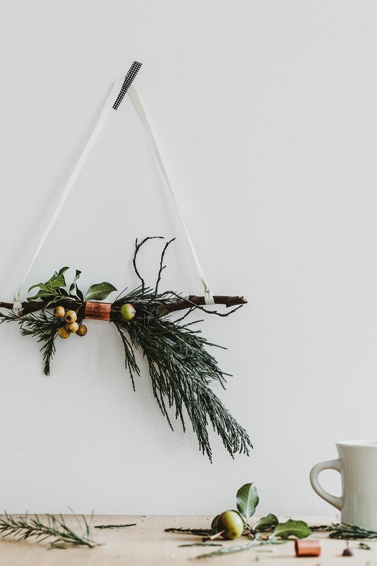 Décoration de noël naturelle à fabriquer || Couronne de Noël par Erika Rax