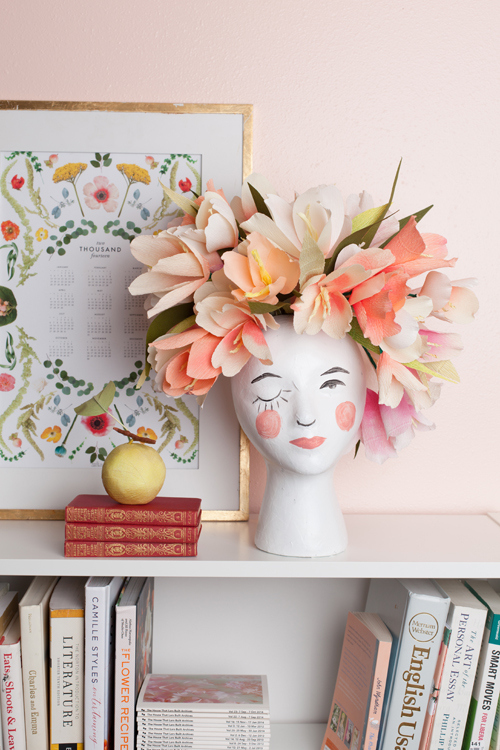 Pantone 2016 Rose Quartz et Bleu Sérénité || DIY FLower head planter