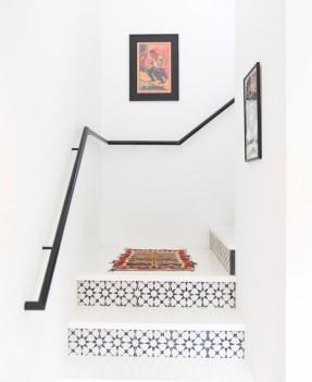 escalier avc carreaux de ciment-maison-Austin