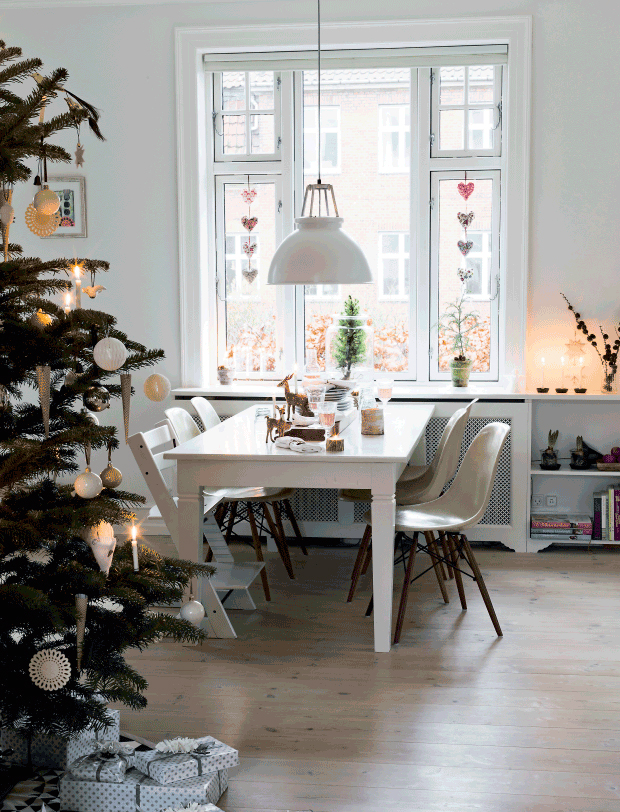 D co de no l scandinave minimaliste for Appartement deco noel