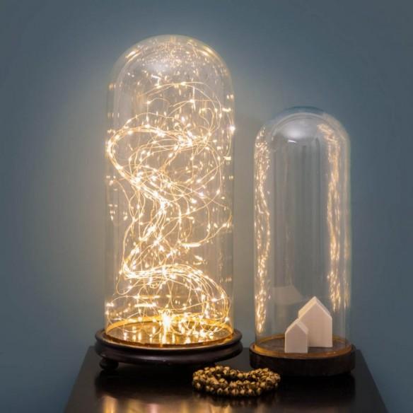 Lumière de Noël || Guirlande de Noël sous globes Le Petit Florilège