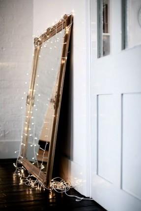 Lumières de Noël || Miroir et guirlande de Noël