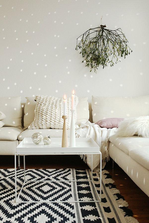 Lumières de Noël || Décor blanc et reflets lumineux