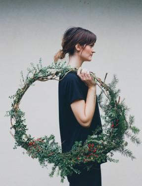 Décoration de noël naturelle à fabriquer || Couronne de Noël par treasuresandtravelsblog