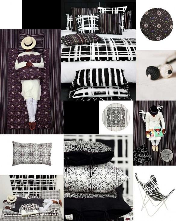 Valerie Barkowski - Collection Black textile design No-mad India